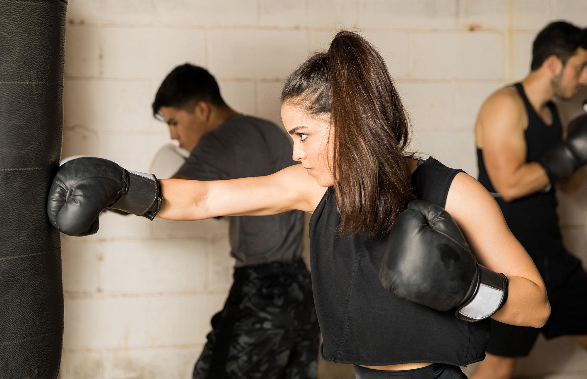 Boxing B&W image