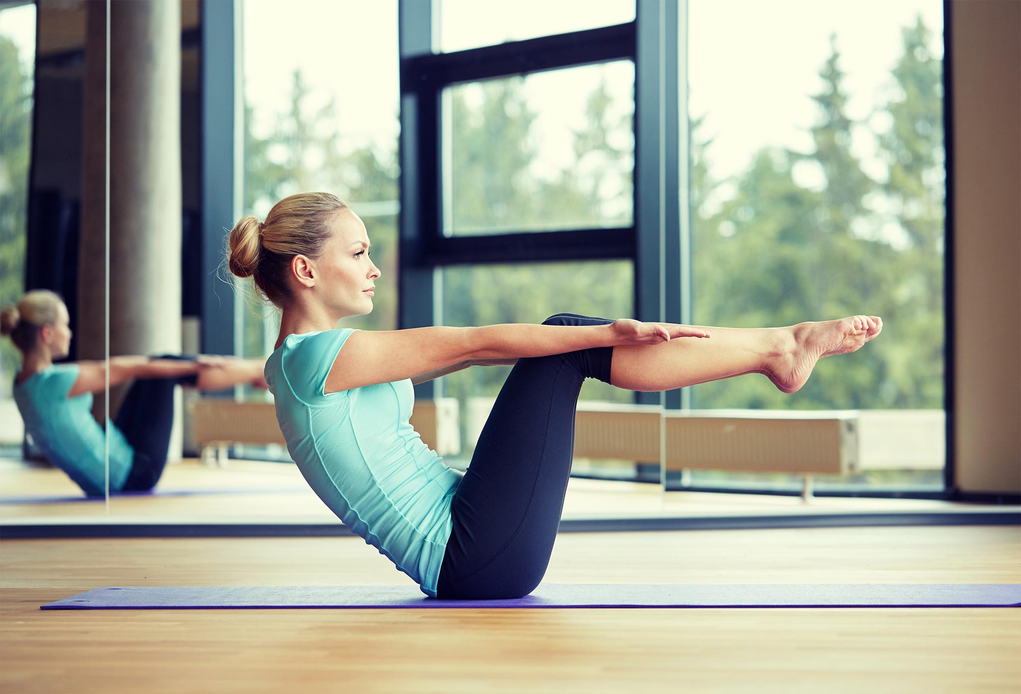 Pilates Black and white image